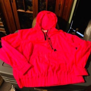 Michael Kors Neon Pink Small Hooded Pullover NWT